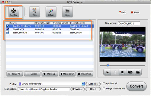 Mac MTS to MOV Converter