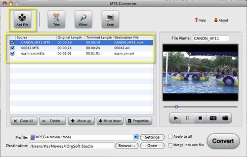 Mac MTS to MPG Converter